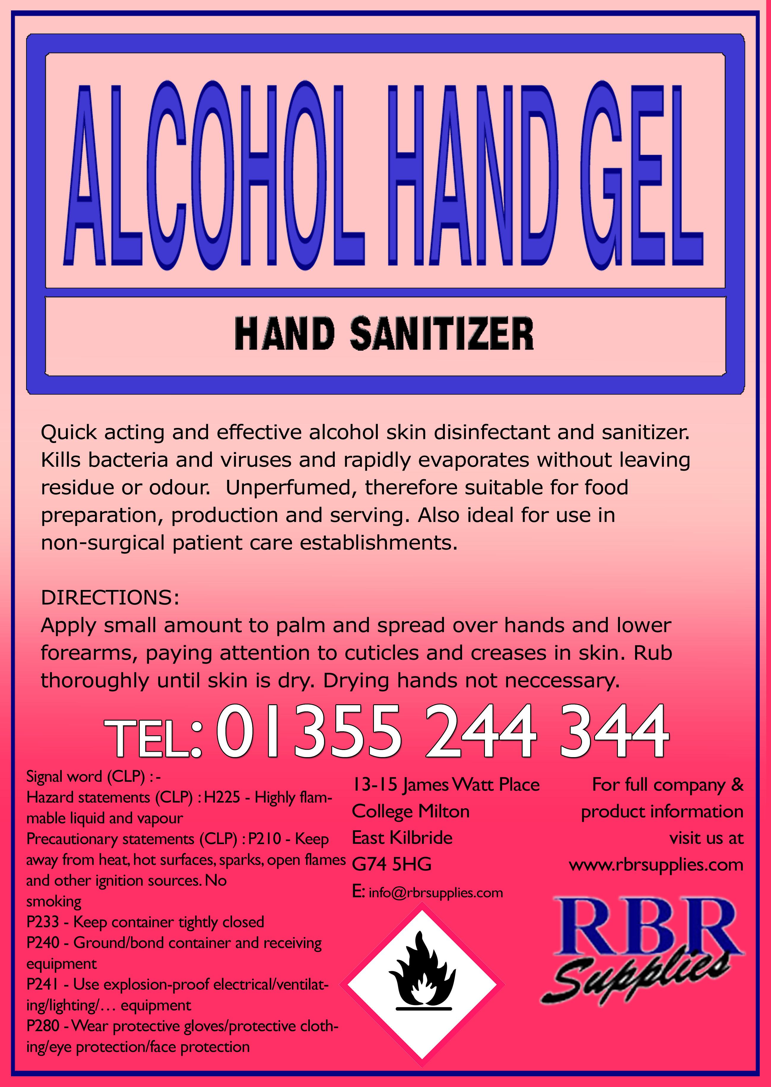 Alcohol Hand Gel - RBR